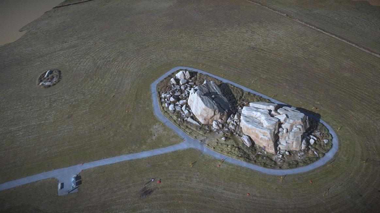 UAV photogrammetry of the Okotoks Erratic, 2016.